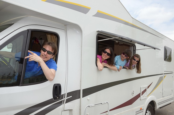 Family on RV Trip